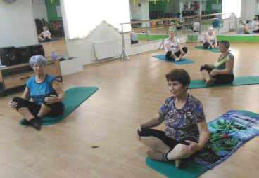 На ледовой арене Псковской области начались занятия группы «Оздоровительного танца»