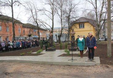 В Опочке открыли бюсты рядовым 6-й роты Дмитрию Иванову и Денису Шевченко