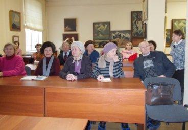Занятие Университета третьего возраста состоялось в Псковском музее-заповеднике