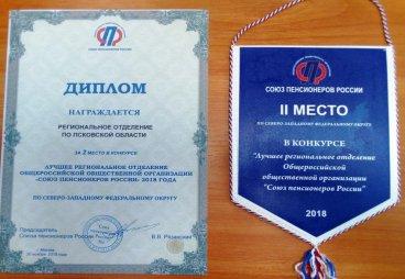 Отделение СПР по Псковской области заняло второе место среди региональных отделений СЗФО